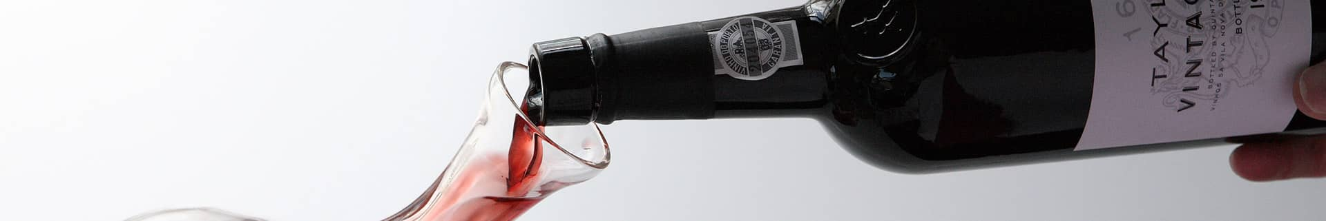 Decanting and serving Vintage Port wine
