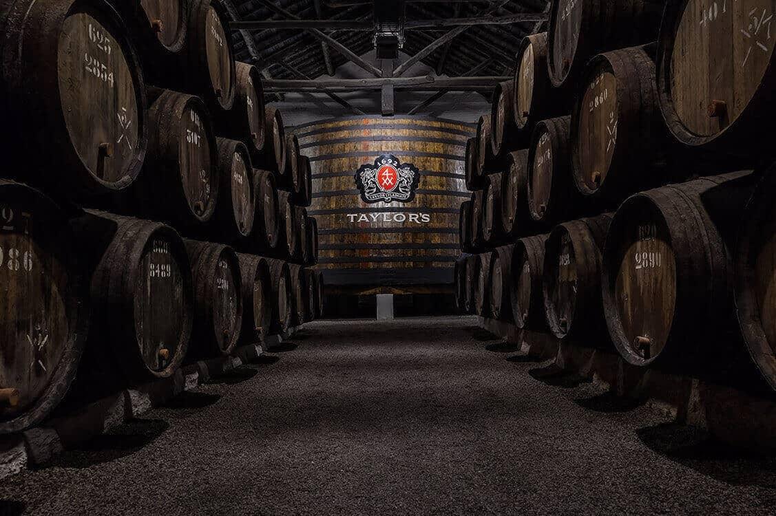 Port wine cellars in Vila Nova de Gaia, Porto - Taylor Fladgate