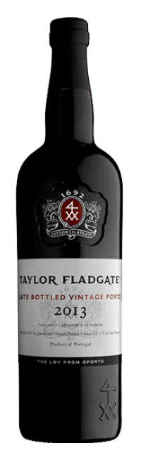 Taylor Fladgate's Late Bottled Vintage 2013 port wine bottle