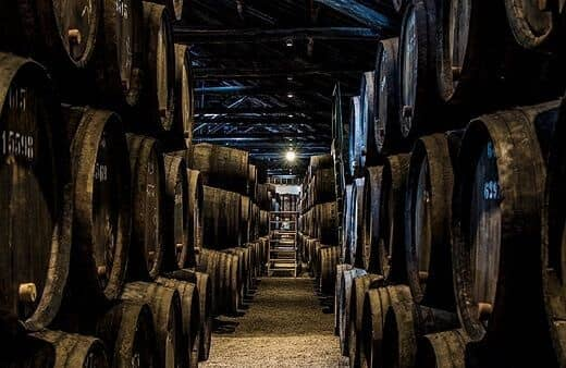 Taylor's Port wine cellars in the heart of the historic area of Vila Nova de Gaia house most of the company's extensive reserves of wood aged...