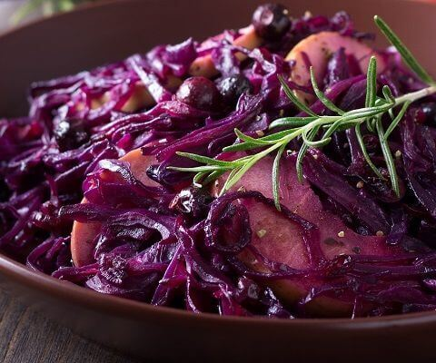 Red cabbage makes a colourful and tasty alternative to the 'love-or-hate' Brussel Sprout and this recipe adds a spicy new dimension.