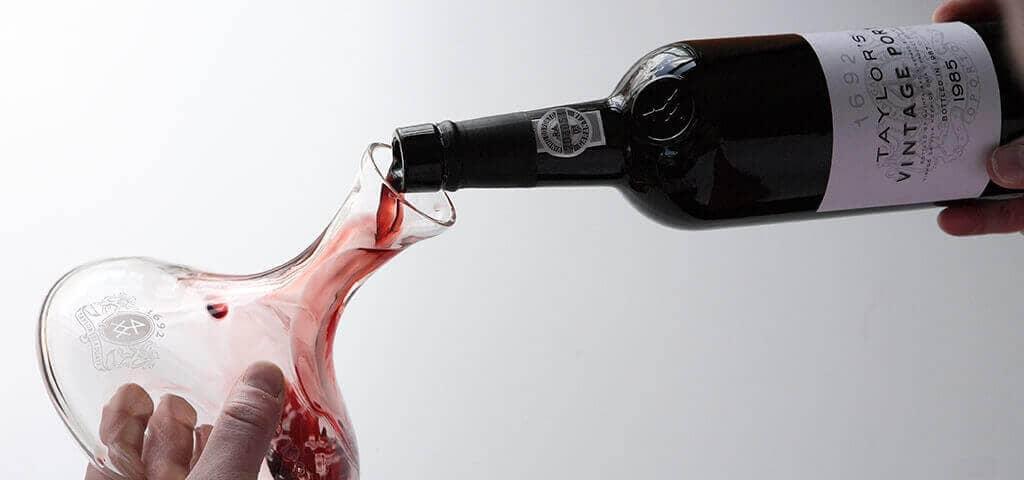 Decanting and serving Vintage Port wine