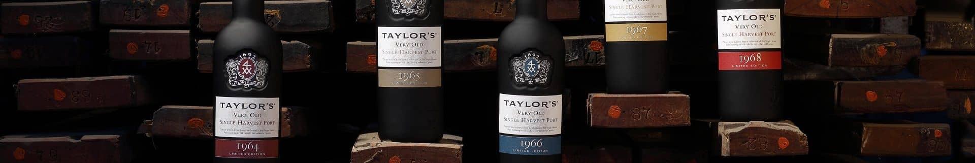 Single Harvest Port Wine bottles from Taylor's