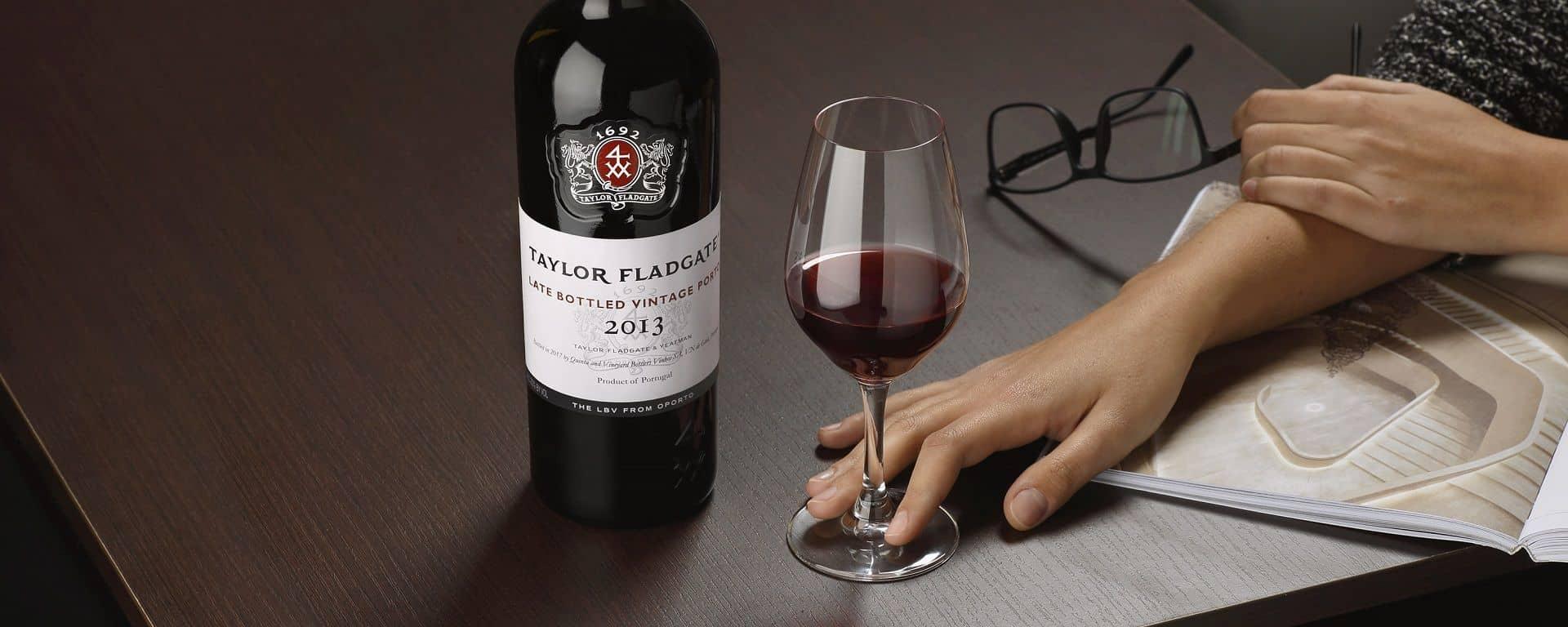 2013 Late Bottled Vintage Port wine bottle