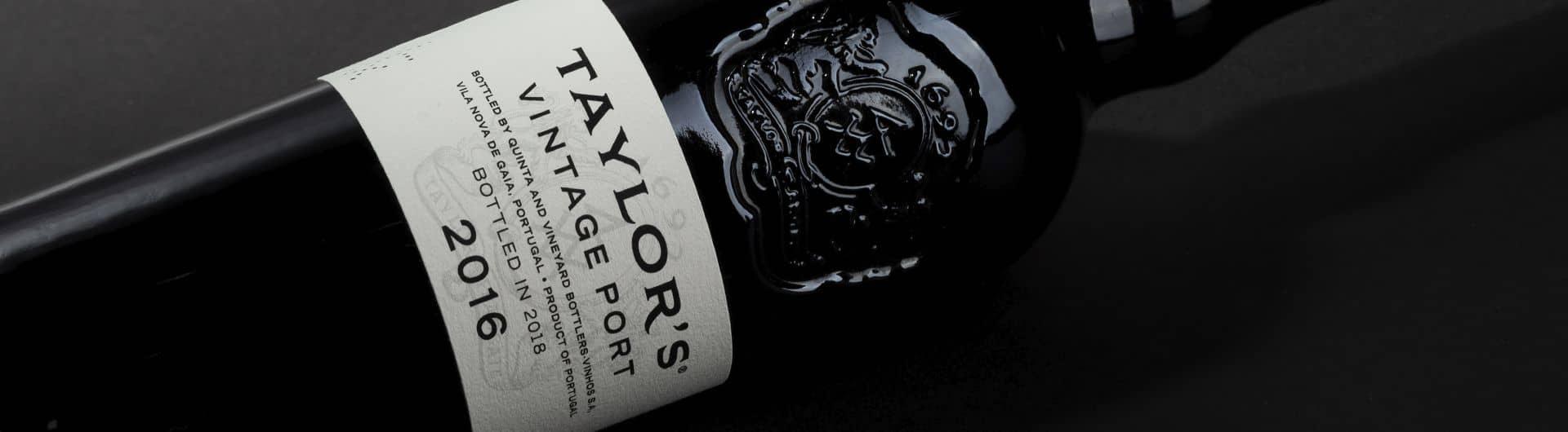 Bottle of Taylor's Port Vintage 2016