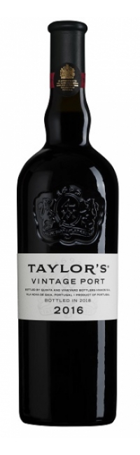 Bottle of Taylor's 2016 Vintage Port