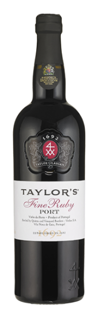 Bottle of Fine Ruby Port wine from Taylor's