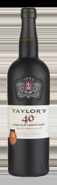 Botella de vino de Oporto Taylor's Tawny 40 Años