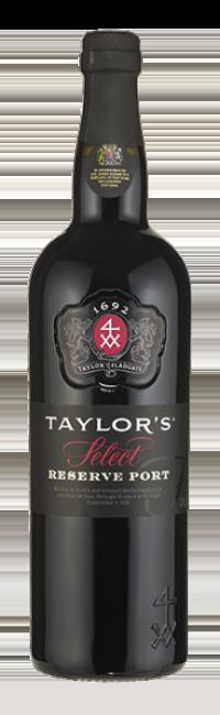 Botella de vino de Oporto Taylor's Select Reserve