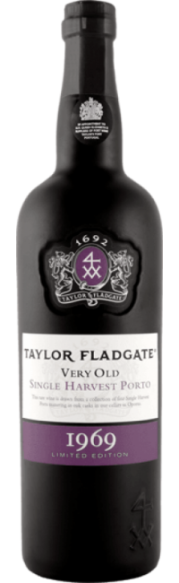 Bottle of Taylor Fladgate 1969 Single Harvest port