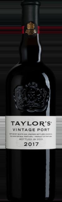 Bottle of Taylor's 2017 Vintage Port