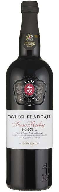 Bottle of Fine Ruby Port wine from Taylor Fladgate