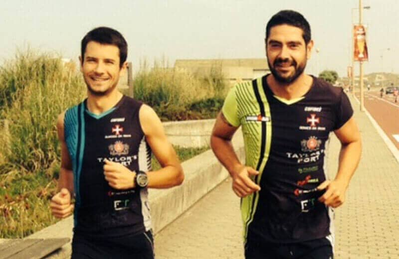 """We decided to support these two intrepid Portuguese """"iron men"""" who will compete with the 'colours' of Taylor's Port on their equipment."""