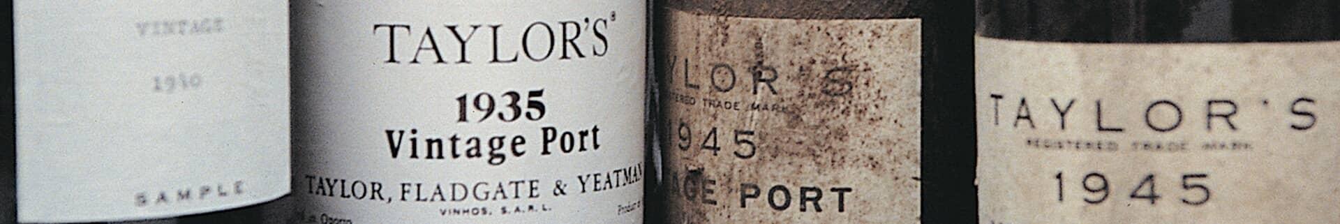 Vintage Port Years - Taylor\'s Port